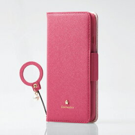 エレコム ELECOM iPhone SE(第2世代)4.7インチ対応 ソフトレザーケース 女子向 磁石付 リング付 ディープピンク PM-A19APLFJM2PD