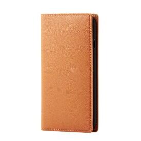 エレコム ELECOM iPhone SE(第2世代)4.7インチ対応 ソフトレザーケース イタリアン(Coronet) オレンジスカッシュ PM-A19APLFYILDR