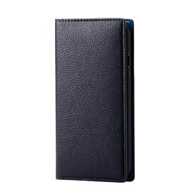 エレコム ELECOM iPhone SE(第2世代)4.7インチ対応 ソフトレザーケース イタリアン(Coronet) ロイヤルネイビー PM-A19APLFYILNV