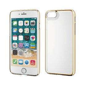 エレコム ELECOM iPhone SE(第2世代)4.7インチ対応 ハードケース 極み サイドメッキ ゴールド PM-A19APVKMGD