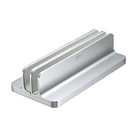 サンワサプライ SANWA SUPPLY ノートパソコン / タブレットPCスタンド[厚み 〜30mm 2台収納] アルミ 縦置きタイプ PDA-STN36S