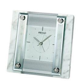 セイコー SEIKO 置き時計 白大理石 QK737W