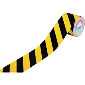 日本緑十字 JAPAN GREEN CROSS 緑十字 ビバスーパーラインテープ 黄/黒(トラ) 100mm幅×20m 屋内用 105217