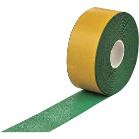 日本緑十字 JAPAN GREEN CROSS 緑十字 高耐久ラインテープ(反射+滑り止めタイプ) 緑 100mm幅×20m 両端テーパー構造 屋内外兼用 105232
