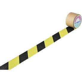 日本緑十字 JAPAN GREEN CROSS 緑十字 滑り止めトラ柄テープ 蛍光黄/黒 50mm幅×3m 屋内外兼用 260097
