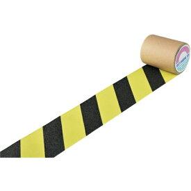 日本緑十字 JAPAN GREEN CROSS 緑十字 滑り止めトラ柄テープ 蛍光黄/黒 100mm幅×3m 屋内外兼用 260107