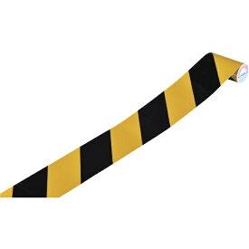 日本緑十字 JAPAN GREEN CROSS 緑十字 トラ柄テープ(反射タイプ) 黄/黒 75mm幅×1m 屋内用 256303