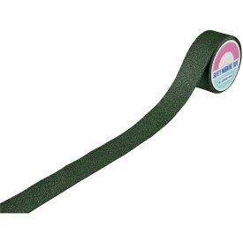 日本緑十字 JAPAN GREEN CROSS 緑十字 滑り止めラインテープ 緑 50mm幅×5m アルミ+鉱物粒子 屋外用 260152