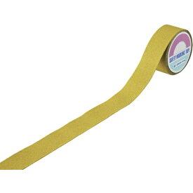 日本緑十字 JAPAN GREEN CROSS 緑十字 滑り止めラインテープ 黄 50mm幅×5m アルミ+鉱物粒子 屋外用 260153