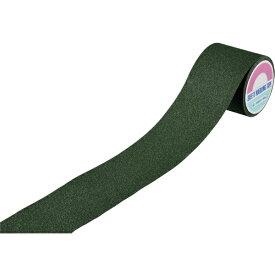 日本緑十字 JAPAN GREEN CROSS 緑十字 滑り止めラインテープ 緑 100mm幅×5m アルミ+鉱物粒子 屋外用 260162