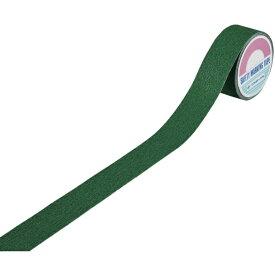 日本緑十字 JAPAN GREEN CROSS 緑十字 滑り止めラインテープ 緑 50mm幅×5m 塩ビ+鉱物粒子 屋内外兼用 260220