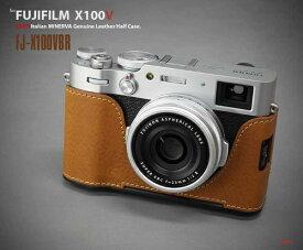 リムズ LIM'S 富士フイルム X100V用本革カメラハーフケース ブラウン FJ-X100VBR