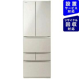 東芝 TOSHIBA GR-S460FH-EC 冷蔵庫 サテンゴールド [6ドア /観音開きタイプ /462L]《基本設置料金セット》