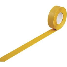 日本緑十字 JAPAN GREEN CROSS 緑十字 高耐久ラインテープ 黄 50mm幅×10m 両端テーパー構造 屋内用 403073