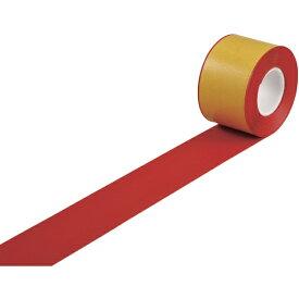 日本緑十字 JAPAN GREEN CROSS 緑十字 高耐久ラインテープ 赤 100mm幅×10m 両端テーパー構造 屋内用 403084