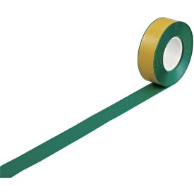 日本緑十字 JAPAN GREEN CROSS 緑十字 高耐久ラインテープ 緑 50mm幅×10m 両端テーパー構造 屋内用 403072