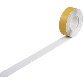 日本緑十字 JAPAN GREEN CROSS 緑十字 高耐久ラインテープ 白 50mm幅×10m 両端テーパー構造 屋内用 403071