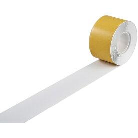 日本緑十字 JAPAN GREEN CROSS 緑十字 高耐久ラインテープ 白 100mm幅×10m 両端テーパー構造 屋内用 403081