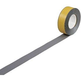 日本緑十字 JAPAN GREEN CROSS 緑十字 高耐久ラインテープ グレー 50mm幅×10m 両端テーパー構造 屋内用 403076