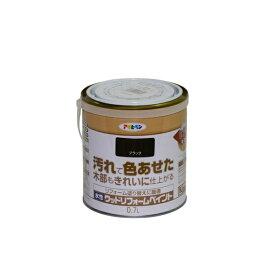 アサヒペン アサヒペン 水性ウッドリフォームペイント 0.7L ブラック