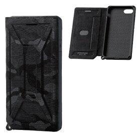 エレコム ELECOM iPhone SE(第2世代)4.7インチ対応 ZEROSHOCK フラップ カモフラ(ブラック) PM-A19AZEROFT1