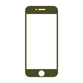 HAMEE ハミィ [iPhone 8/7/6s/6専用]iFace Round Edge Color Glass Screen Protector ラウンドエッジ強化ガラス 液晶保護シート iFace Reflection/カーキ 41-890257