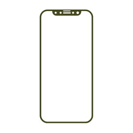 HAMEE ハミィ [iPhone 11/XR専用]iFace Round Edge Color Glass Screen Protector ラウンドエッジ強化ガラス 液晶保護シート iFace Reflection/カーキ 41-903261