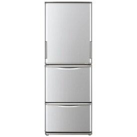 シャープ SHARP SJ-W352F-S 冷蔵庫 どっちもドア シルバー系 [3ドア /左右開きタイプ /350L][冷蔵庫 大型 両開き]《基本設置料金セット》