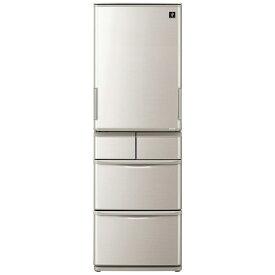 シャープ SHARP SJ-W412F-S 冷蔵庫 プラズマクラスター冷蔵庫 シルバー系 [5ドア /左右開きタイプ /412L][冷蔵庫 大型 両開き]《基本設置料金セット》