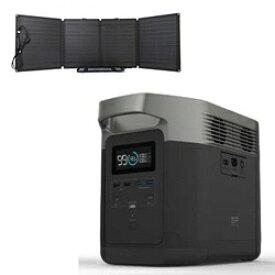 ビックカメラ限定セット ポータブル電源 EFDELTA1300-JP+110Wソーラーチャージャー1台セット[ポータブル電源 大容量 ソーラパネル エコフロー]