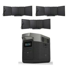 ビックカメラ限定セット ポータブル電源 EFDELTA1300-JP+110Wソーラーチャージャー3台セット[ポータブル電源 大容量 ソーラパネル エコフロー]