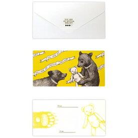 山桜 YAMAZAKURA D[di: ]cashico長方形カード・タトウ 熊 白 351400