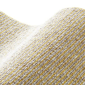 スミノエ SUMINOE ラグ カルル(185×185cm/軽量/ウォッシャブル/床暖対応/マスタード)【日本製】