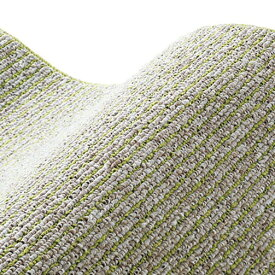 スミノエ SUMINOE ラグ カルル(185×185cm/軽量/ウォッシャブル/床暖対応/オリーブ)【日本製】