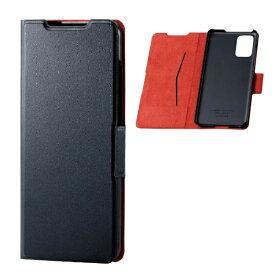 エレコム ELECOM Galaxy S20+ 5G ソフトレザーケース 薄型 磁石付 ブラック PM-G203PLFUBK