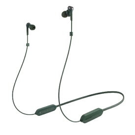 オーディオテクニカ audio-technica ブルートゥースイヤホン カナル型 グリーン ATH-CKS330XBT GR [リモコン・マイク対応 /ワイヤレス(左右コード) /Bluetooth]
