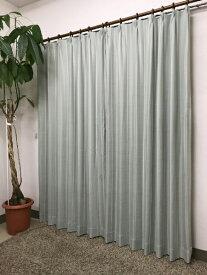 青木 AOKI 2枚組 ドレープカーテン トロワ(100×135cm/グリーン)