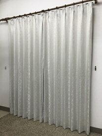 青木 AOKI 2枚組 ドレープカーテン シーバス(100×200cm/アイボリー)