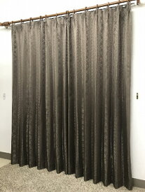 青木 AOKI 2枚組 ドレープカーテン シーバス(100×200cm/ブラウン)