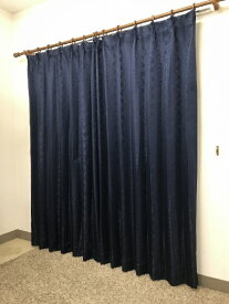 青木 AOKI 2枚組 ドレープカーテン シーバス(100×135cm/ネイビー)