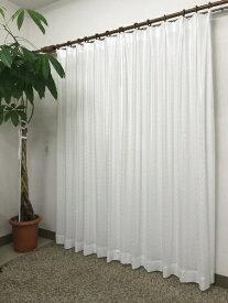 青木 AOKI 2枚組 レースカーテン ガナッシュ(100×176cm/ホワイト)