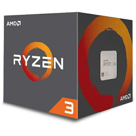 AMD エーエムディー 〔CPU〕 AMD Ryzen 3 3100 With Wraith Stealth cooler (4C8T,3.6GHz,65W) 100-100000284BOX
