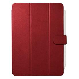 BUFFALO バッファロー 11インチ iPad Pro(第2世代)用 3アングルレザーケース レッド BSIPD2011CL3RD
