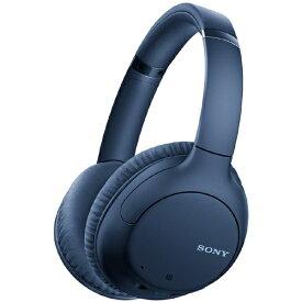 ソニー SONY ブルートゥースヘッドホン ブルー WH-CH710N LZ [リモコン・マイク対応 /Bluetooth /ノイズキャンセリング対応]