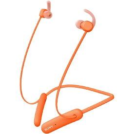 ソニー SONY ブルートゥースイヤホン カナル型 オレンジ WI-SP510DZ [リモコン・マイク対応 /ワイヤレス(ネックバンド) /Bluetooth]【rb_cpn】