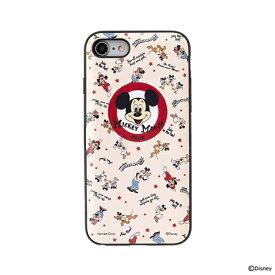 HAMEE ハミィ [iPhone SE 2020/8/7専用]ディズニーキャラクター Latootoo カード収納型 ミラー付きiPhoneケース 599-917312 ミッキーマウスクラブ
