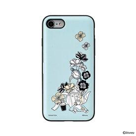 HAMEE ハミィ [iPhone SE 2020/8/7専用]ディズニーキャラクター Latootoo カード収納型 ミラー付きiPhoneケース 599-917329 アリス