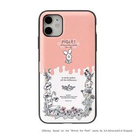 HAMEE ハミィ [iPhone 11/XR専用]ディズニーキャラクター Latootoo カード収納型 ミラー付きiPhoneケース Latootoo ボタニカルピグレット 599-917398