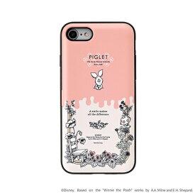 HAMEE ハミィ [iPhone SE 2020/8/7専用]ディズニーキャラクター Latootoo カード収納型 ミラー付きiPhoneケース 599-917343 ボタニカルピグレット