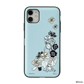 HAMEE ハミィ [iPhone 11/XR専用]ディズニーキャラクター Latootoo カード収納型 ミラー付きiPhoneケース Latootoo アリス 599-917374